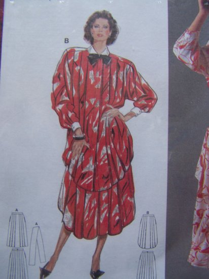 Uncut Burda Sewing Pattern 6231 Speciale Collection Loose Dolman Shirt Round Hem SKirt