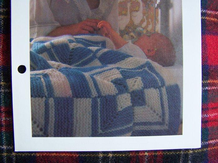 1 Cent USA S&H Vintage Afghan Blanket KNitting Pattern