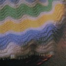 Vintage Knitting Pattern Chevron Baby Afghan Blanket USA 1 Cent S&H