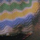 Vintage Knitting Pattern Chevron Baby Afghan Blanket USA 1 Cent S&H
