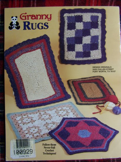 Crocheted Granny Rugs Pattern 2360 Leaflet 8 Rug Crochet Patterns