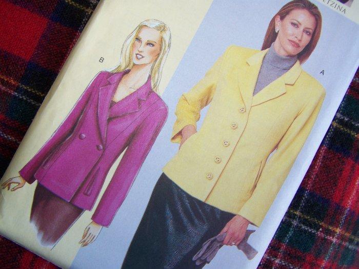 Vogue Today's Fit Sandra Betzina Blazer Suit Jacket Sewing Pattern 7334 Sz D E F
