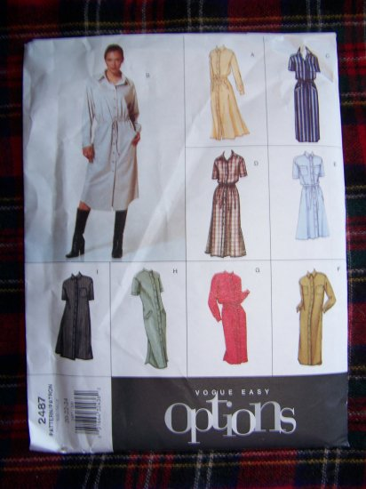 New Easy Options Vogue 9 Dress Sewing Patterns 2487 Plus Size 20 22 24
