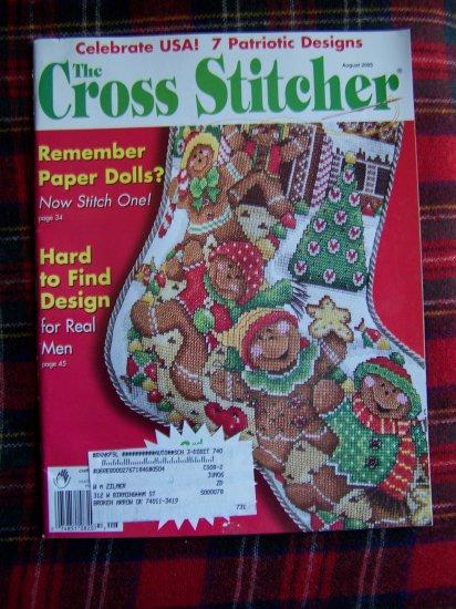 Cross Stitch Pattern Magazine Stitcher Gingerbread Stocking Patriotic Americana Paper Dolls