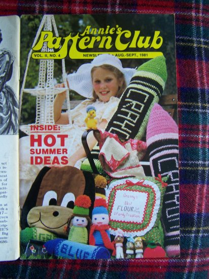 Vintage Annies Crocheting Patterns Book Crochet Pattern Club 4 Aug Sept 1981
