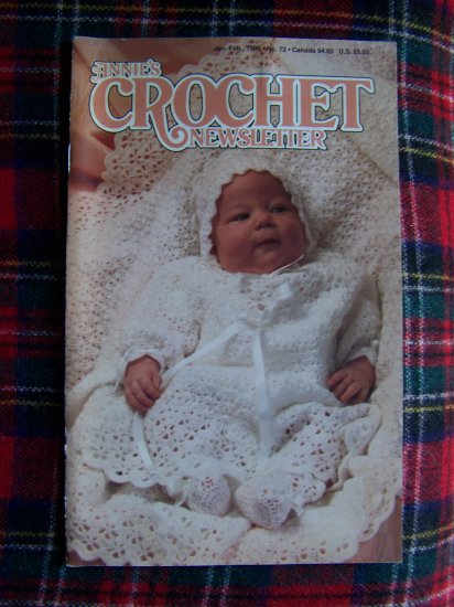 Annie's # 73 Crochet Newsletter Jan Feb Crocheting Patterns Christening Set