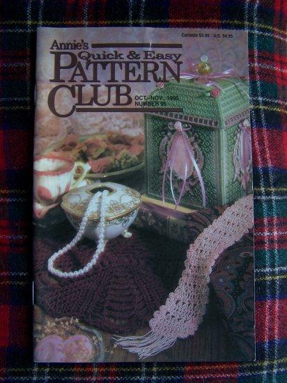 Annie's Quick & Easy Pattern Club Book 95 Oct Nov Plastic canvas Crochet Patterns