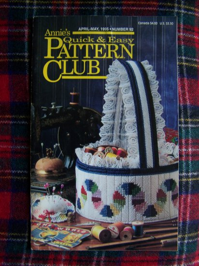 Annie's Quick & Easy Pattern Club Book 92 April May 1995 Crochet Plastic Canvas Patterns