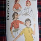 USA 1 Cent S&H 1960's Girls Vintage Blouse Breast 32 Sewing Pattern Shirt Wardrobe 9848