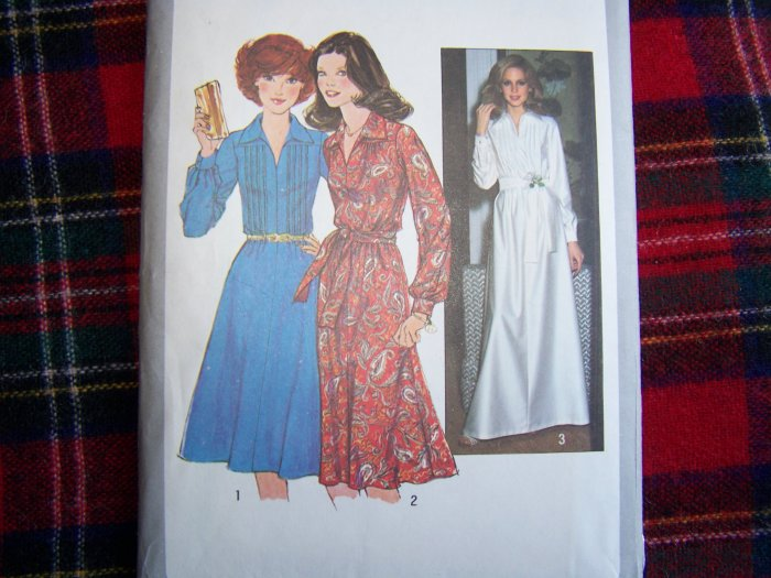 Vintage Dress Sewing Pattern Simplicity 8249 Misses Sz 10 Gown
