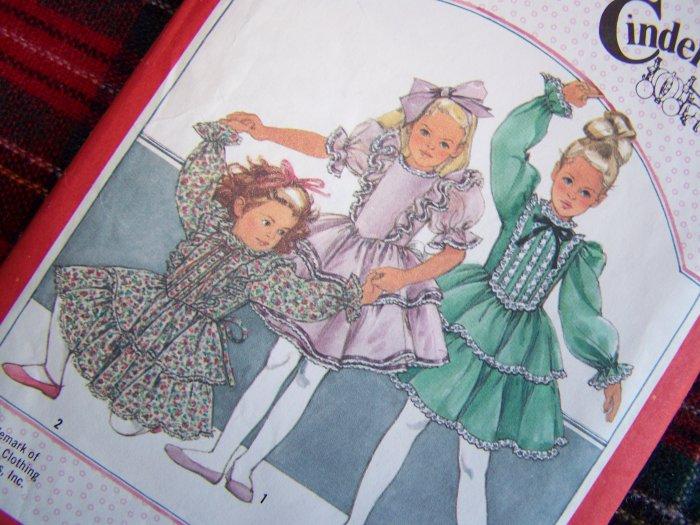Vintage Dress Girls 3 Toddler Ruffles Christmas Pageant Cinderella Sewing Pattern 6179