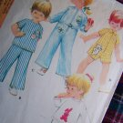 Vintage Infants 6 M Winter Pajamas Jumpsuit w Appliques Sewing Pattern 2698