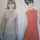 Vintage Space Age A Line Stewardess Vintage Dress Sewing Pattern 8865