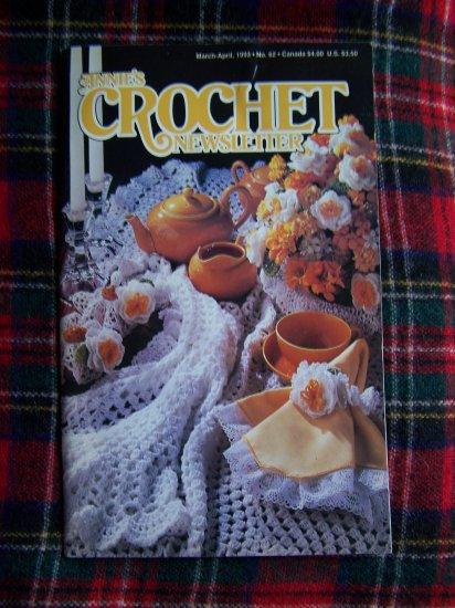 Annie's Crochet Newsletter Pattern Book 62 March April 1993 Crocheting Patterns