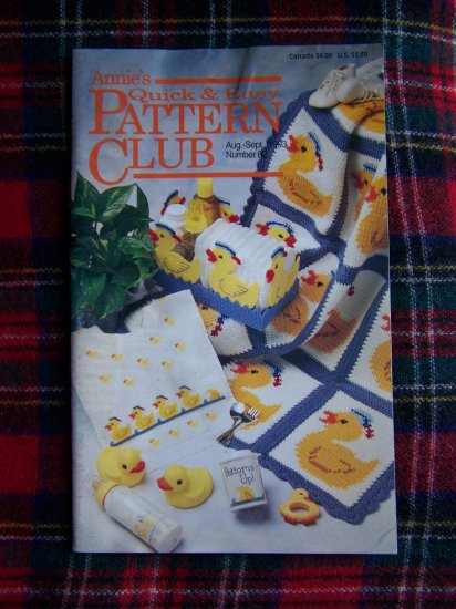 Annie's QUick & Easy Pattern Club Book 82 Aug Setp 1993 Crochet Plastic canvas Patterns