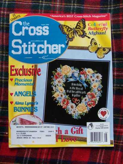 AUgust 2000 Cross Stitch Pattern Chart Magazine 23 Stitcher Stitching Patterns