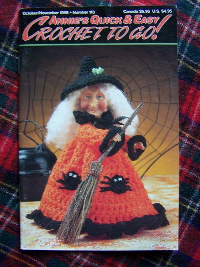 Annie's Crochet Patterns Book 113 Police Hat Loopy Christmas Tree Halloween Doll Moccasins