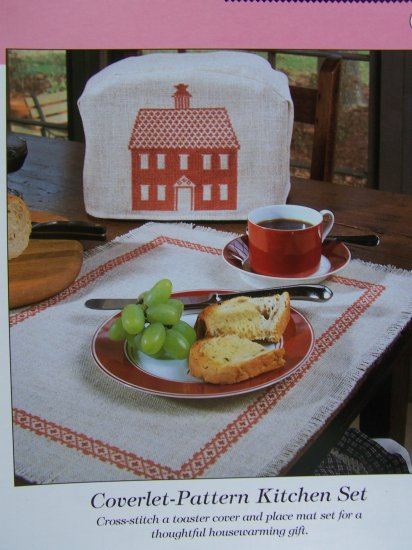 Cross Stitch Kitchen Set Toaster Cover Place Mat Patterns  50 Cent USA S&H