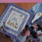 Newborn Baby Birth Announcement Keepsake Photo Album Cover & Rattle