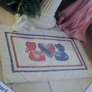 USA 75 Cent S&H  Sunbonnet Sue & Sam Appliques Pattern Bathroom Rug Towels