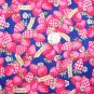 2 Yards 1990's Vintage Country Strawberry FCI Classic Cottons Fabric 100% Cotton