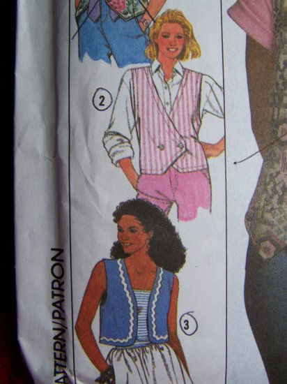 1 Cent USA S&H Misses Lined Vest Sewing Pattern 9630 Sizes 6 8 10 12 14 16 18 20 22 24