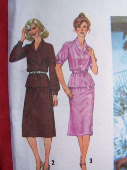 $1 USA S&H  Vintage 70's Misses 2 Piece Dress Tunic Top Skirt 9225