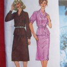 $1 USA S&H  Vintage 70's Misses 2 Piece Dress Tunic Top Skirt 9225