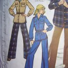 Vintage 70's Sewing Pattern Safari Shirt Jacket Pants Suit 5854 Sz 14
