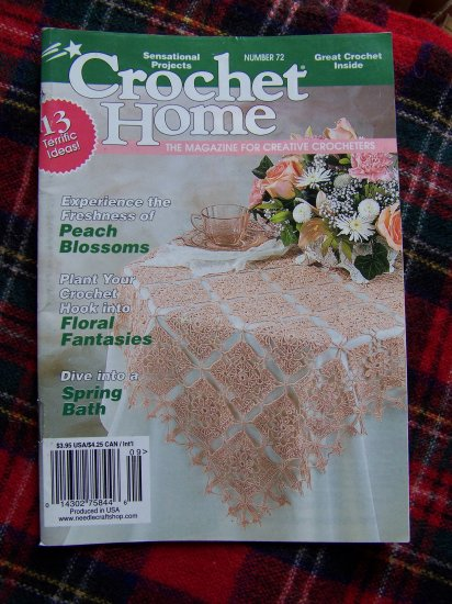 Crochet Home Pattern Book # 72 A B C Afghans Stuffed Bear Doll Tote Xmas Bulbs
