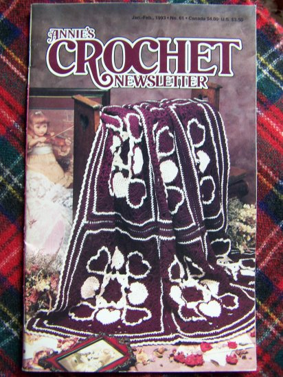Annie's Crochet Newsletter Pattern Book 61 Jan Feb 1993 Crocheting Patterns