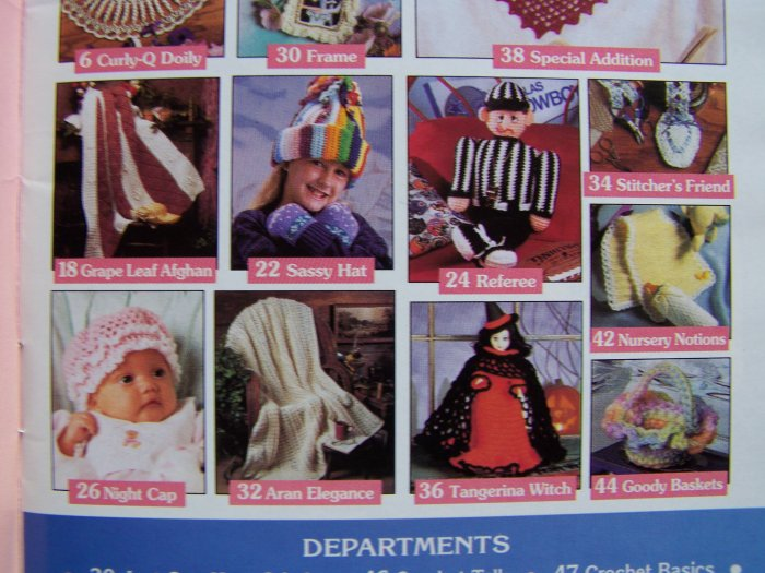 17 Crochet Patterns Book Victorian Curly Doily Aran Afghans Baby Pattern