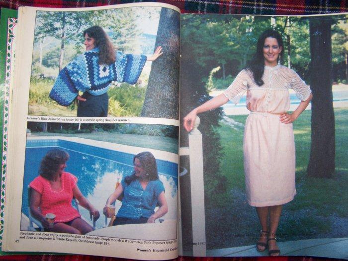 Vintage 1980's Women's Household Crochet Pattern Magazine Thread Crocheting Patterns