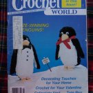 30 Vintage Feb 1987 Crochet World Pattern Magazine Thread Crocheting Patterns