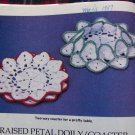 Vintage Crochet World Patterns Oct 1987 Train Afghan Popcorn Purse Raised Petal Doily Coasters
