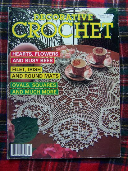 80's Vintage Decorative Crochet Pattern Magazine # 3 Back Issue 28 Patterns