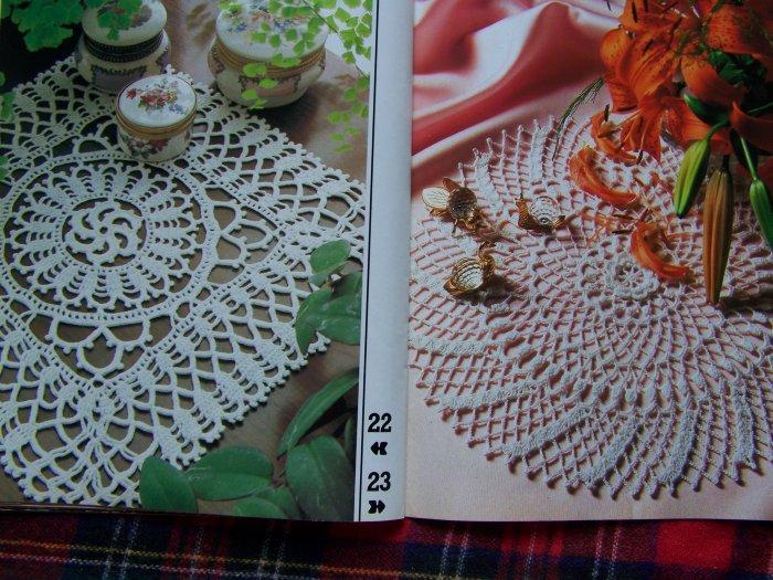29 Vintage Crochet Patterns Decorative Crocheting 4 1980's Back Issue Pattern