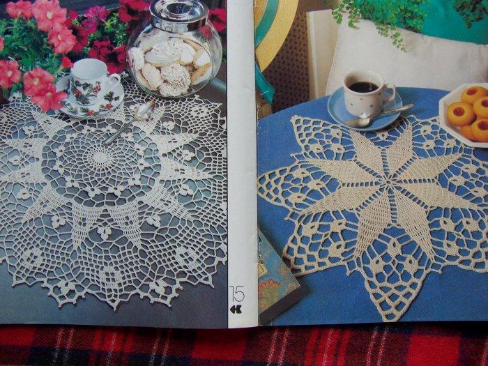 # 6 Vintage 80's Decorative Crochet Pattern Magazine 29 Crocheting Patterns
