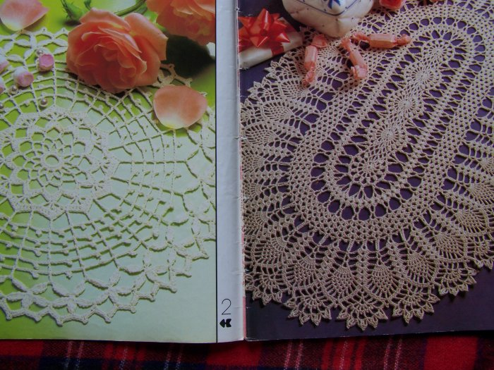 80's Vintage Decorative Thread Crochet Pattern Back Issue Magazine # 7 Doily Filet