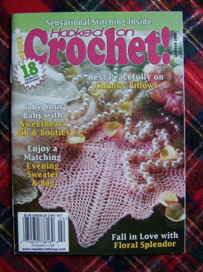 # 79 Hooked On Crochet Pattern Book Jan Feb 2000 Patterns 18 Crocheting