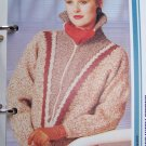 USA 1 Cent S&H  Vintage Knitting Pattern Misses Sweater Jacket with Zipper