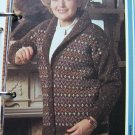USA 1 Cent S&H  Vintage Ladies Knitting Pattern Button Up Knitted Sweater Jacket