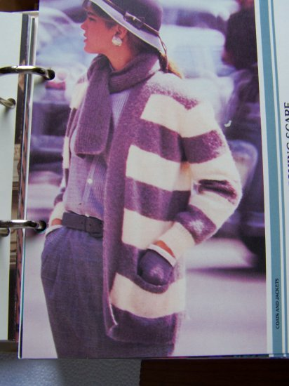 USA 1 Cent S&H  Vintage KNitting Pattern Ladies Long Sweater Jacket with Scarf