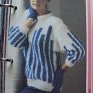 1980 Knitting Pattern Winter Geometric Sweater Womens M L XL XXL