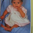 USA 1 Cent S&H Infants 6 12 Months Knitted Baby Dress Vintage Knitting Pattern