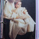 Vintage Knitting Pattern Newborn - 5 months Christening Robe & Shawl Knitted Set