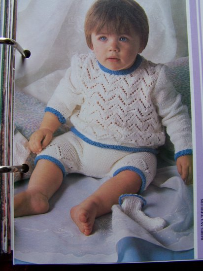 USA 1 Cent S&H Child's Vintage Knitting Pattern Sweater Pants Socks 3 5 6 12 M 2 3 T
