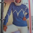 1 Cent US S&H Misses 1980's Vintage Pullover Sweater Knitting Pattern