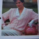 1 Cent USA S&H 80's Cafe Society Cable Knit Cardigan Sweater Knitting Pattern