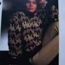 Holidays Wool and Lurex Knitting Pattern Misses Pullover Turtleneck Sweater